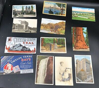 HUGE LOT (100+) of VINTAGE Advertising, Post Cards, & Pictures