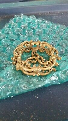 Ornate Heavy Gold Metal Vanity Lipstick Cosmetic Holder
