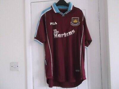 West Ham United Home Football Shirt 44 Ins Fila Make
