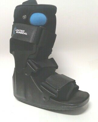 United Ortho Short Air Cam Walker Fracture Boot, Small, Black
