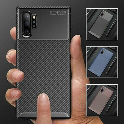 Carbon Fiber Shockproof Back Case Cover For Samsung Galaxy Note 10 S10 S9 Plus