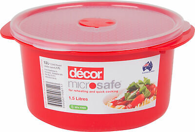 Decor Microsafe Round Bowl with Lid - 1.5L