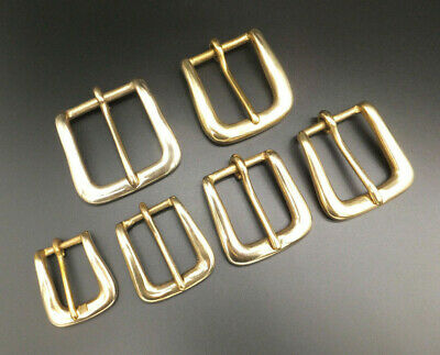 """SOLID CHUNKY BRASS BELT BUCKLE [ 3/4"""" - 1-1/2"""" ] LEATHERCRAFT [ 20 mm - 38 mm ]"""