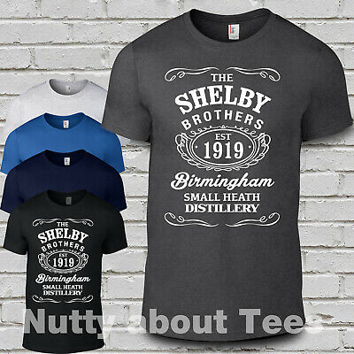 The Shelby Brothers T Shirt Peaky Birmingham Mens Blinders Garrison Pub bros