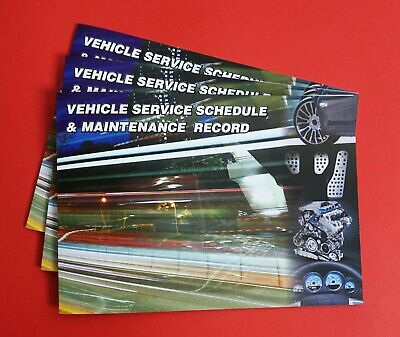 Vehicle Service Book -Blank History Maintenance Record Replacement Car & Van