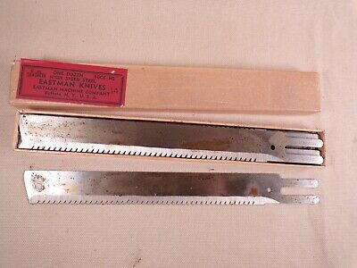 11 PCS Vintage Eastman Straight Cutting Machine Knife Blades Leather Fabric