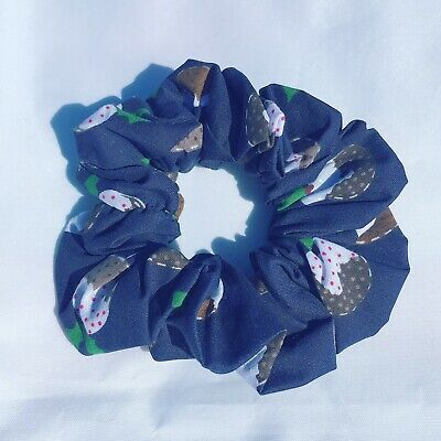 Fun Navy hair scrunchies,handmade Accessories
