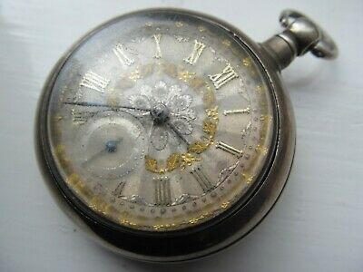 Chester 1903 Hallmarked Silver Fusee pair cased pocket watch Brechin