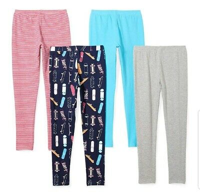 Girls Leggings Pants Lot of 4 Size XL Large 12 Girl NEW! Cat, Stripes, Blue...