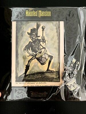 D23 Disney Expo 2019 Dream Store Haunted Mansion Pirate Ghost Drummer Pin LE 999