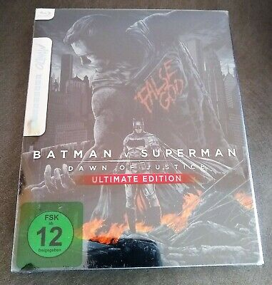 BATMAN V SUPERMAN Dawn of Justice Blu-Ray Limited Edition MONDO STEELBOOK