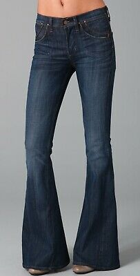 Citizens of Humanity Angie super flare bell bottoms jeans 26 Moon River (?) Blue