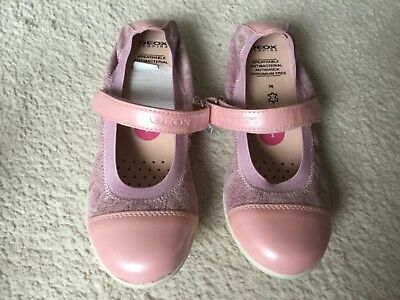 New Geox Girls leather shoes ballerinas size 3 EU 36