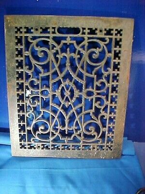 Early 20thc CAST IRON Highly DECORATIVE Furnace FLOOR GRATE