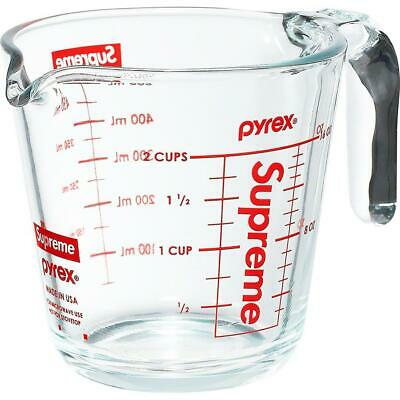 Supreme 19F/W Pyrex 2-Cup Measuring Cup Clear 1000% Authentic in Hand