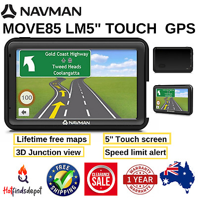 """Navman MOVE85LM 5"""" Touch GPS with Speed and Premium Safety Alerts & Lane guide"""