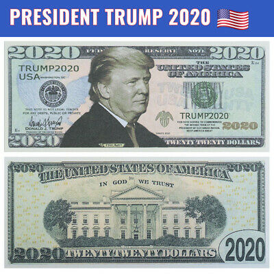 BRAND NEW • Donald Trump 2020 Dollar Bill Presidential MAGA Novelty Funny Money
