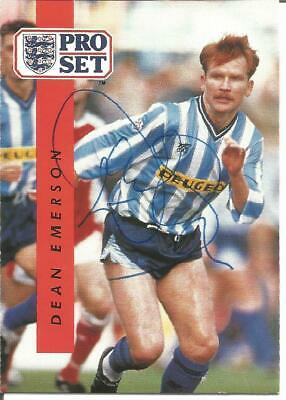 Dean Emerson Coventry Football Autograph Signed Pro Set Photograph Card F1651