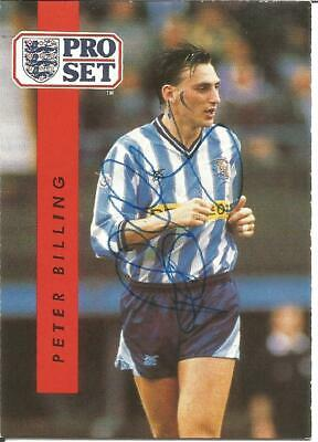 Peter Billing Coventry Football Autograph Signed Pro Set Photograph Card F1652