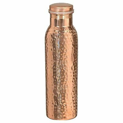 Pure Copper Water Bottle Flask Thermos 1L Lid Tumbler Glass 200ML Mug Cup Travel