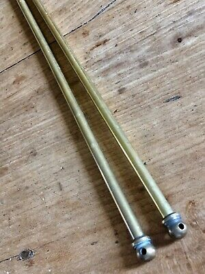 Vintage Brass Curtain Rail Pole Small French Kitchen Cupboard Brasserie Rail