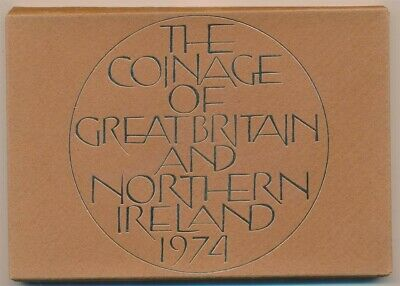 Great Britain: 1974 ½d to 50p 6-Coin Proof Set