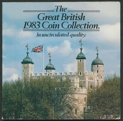 Great Britain: 1983 7-Coin Brilliant UNC Set, Special Tower of London Package
