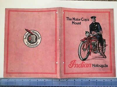 1919 Hendee Indian Hedstrom  Powerplus Motorcycle Antique Vintage Repro Catalog