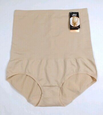 "JKY By Jockey Womens Midriff Zone High Waist Brief Nude Size Large 42-44"" (5127)"