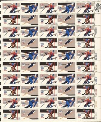 US Stamp - 1980 Winter Olympics Perf.11  50 Stamp Sheet #1795A-8A