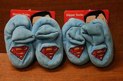 NEW Baby slippers Superman 2 pairs 00-1 1-2  FREE POST