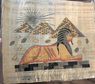 Hand - Painted Egyptian Art On Authentic Papyrus, with Certificate