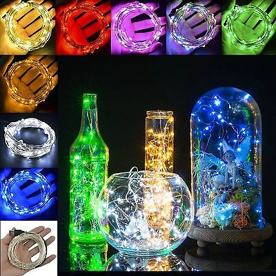 20/50/100 LEDs Battery Operated Mini LED Copper Wire String Fairy Lights 2-10M