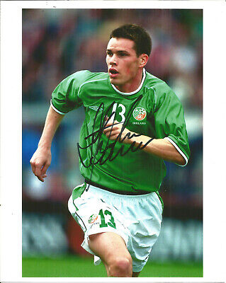 Steve Finnan Republic Of Ireland Footballer Autograph Signed Photograph F1674
