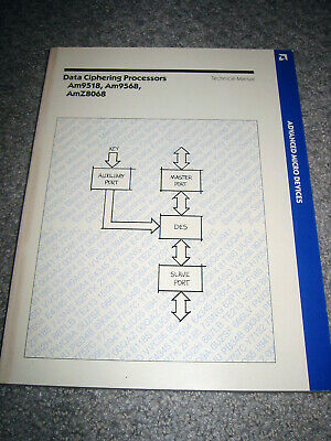 AMD Data Ciphering Processors Manual - Am9518, Am9568, and  AmZ8068 DES Encrypt