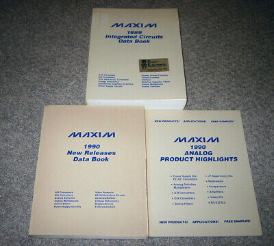 Maxim Data Books - Set of three - 1989-1990 - A/D, D/A, Pwr Supply, Timers, etc.