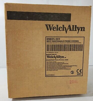 Welch Allyn Thermometer Disposable Probe Covers 1000 per Box 05031 M031