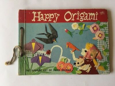 Happy Origami Tatsuo Miyawaki 1960 Japanese Art Paper Folding RARE