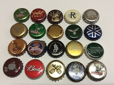 20 assorted beer caps lot 18