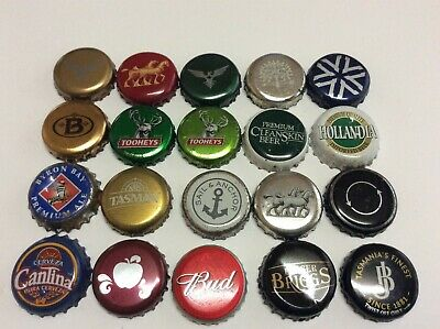 20 assorted beer caps lot 19