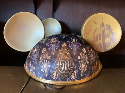 Disney HAUNTED MANSION 50th Anniversary Mickey Mouse Ears Hat ~BRAND NEW~