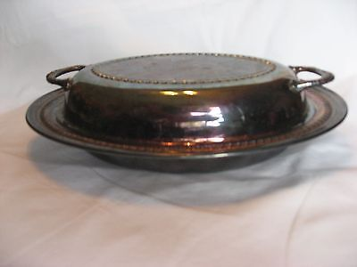 Lancaster Silver Co. Plated Oval Covered Vegetable Serving Dish/ Bowl W/Lid