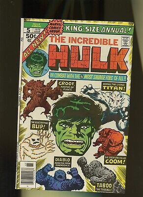 Incredible Hulk Annual 5 FN/VF 7.0 * 1 Book Lot * Marvel,1976! 1st Issue Vol.1!