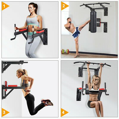 OneTwoFit Wall Pull Up/Chin Up Bar Strength Training Supports to 330 Lbs OT076