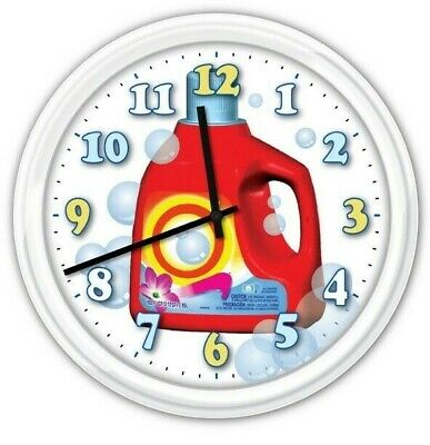 nc0665-b Coin-op Laundry Dry Clean Display Neon Sign LED Wall Clock