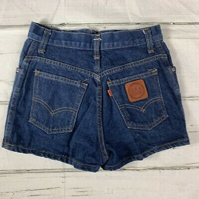 Vintage 1980 Levi's USA Olympic Games Leather Patch Jean Shorts - EUC