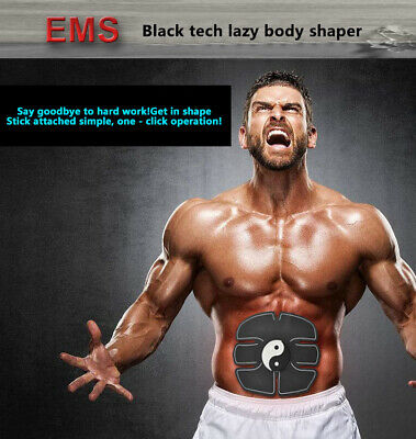 Ultimate Abs Slim Stimulator Abdominal Muscle Toning Training Belt USB Charge