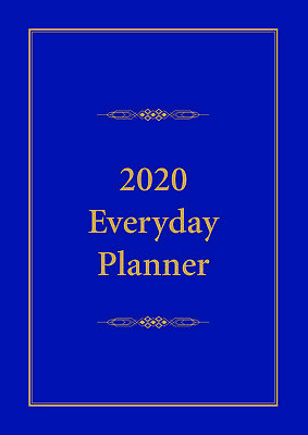 2020 Everyday Planner A4 Blue by Bartel EP001
