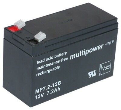 Multipower MP7,2-12B 12V 7,2Ah Plomo Batería Vds 6,3mm LC-R127R2P1 Ups Rpc