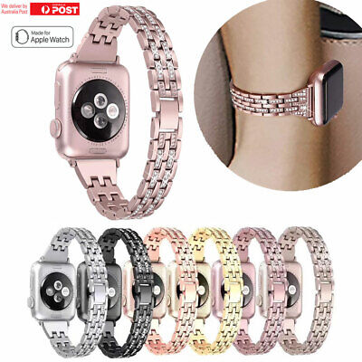 Apple Watch Series 5 4 3 2 Bling Stainless Steel Bracelet iWatch Band Strap Lady